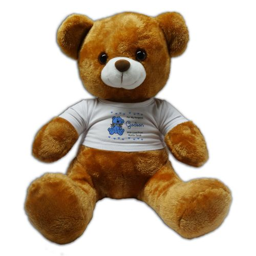 Personalised Godson 30cm Plush Soft Toy Bear